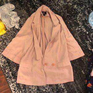 Pink oversize blazer
